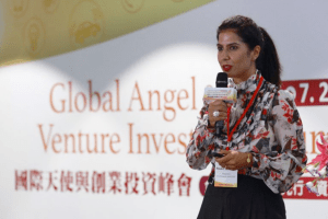 Propel(x) Founder Swati Chaturvedi presents at the International Angels and Venture Capital Summit